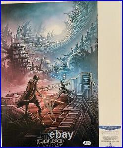 J. J. Abrams Autographed Star Wars Rise Of Skywalker 12x18 Poster Signed Beckett