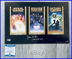 James Earl Jones Darth Vader Signed & Inscribed Star Wars Trilogy Poster Beckett