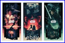 John Guydo Original Star Wars Saga Triptych AP Set Posters #/100 Signed Mondo