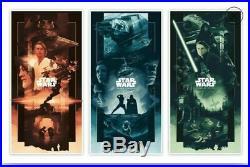 John Guydo Original Star Wars Saga Triptych AP Variant Set Posters #2/40 Signed