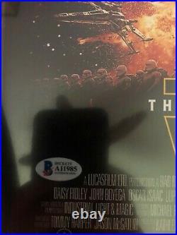 John Williams Signed Star Wars Movie Poster 12x18 Photo withBeckett COA LOA