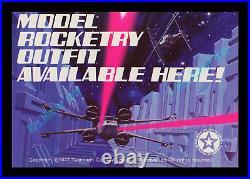 MINT'77 Star Wars ESTES Proton Torpedo MODEL ROCKET Store Display MOVIE POSTER