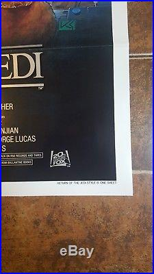 MINT! STAR WARS RETURN OF THE JEDI 1983 1SH Original Movie Poster 27x41 LUCAS