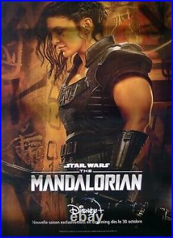 Mandalorian Extremely Rare Lenticular Bus Stop Poster Style A Star Wars