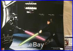 Mark Hamill Dave Prowse signed Star Wars Return Jedi ROTJ 16x20 photo poster JSA