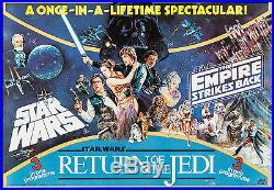 Movie Poster Star Wars Trilogy 1983 British Quad 27.5x40 NM 9.4 Harrison Ford