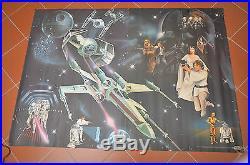 ORIGINAL 1977 vintage General Mills STAR WARS SUPER-POSTER from Toy Stores RARE