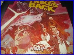 ORIGINAL EMPIRE STRIKES BACK movie poster 22x28 half sheet 1982 star wars
