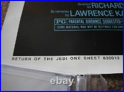 ORIGINAL RETURN OF THE JEDI movie poster 27x41 ROLLED 1983 star wars