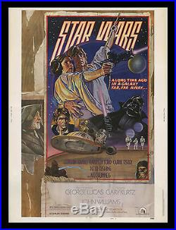 ORIGINAL ROLLED Star Wars Style D 30x40 Theater Lobby Display Movie Poster