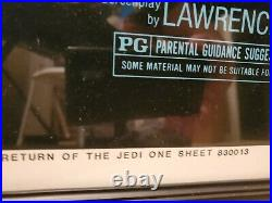 ORIGINAL Rolled Star Wars Return of the Jedi Movie Poster 1983 27X41 Framed