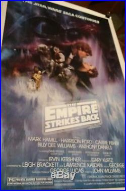 ORIGINAL STAR WARS EMPIRE STRIKES BACK One Sheet Kissing Movie Poster Style A