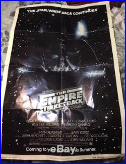 ORIGINAL Star Wars THE EMPIRE STRIKES BACK 1979 Advance MOVIE POSTER