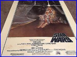 ORIGINAL Theatrical POSTER STAR WARS 30x40 1977