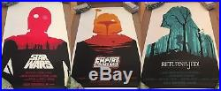 Olly Moss STAR WARS Posters ORIGINAL NUMBERED SET From Mondo 2010