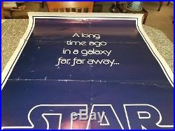 Original 1977 Star Wars 1 Sheet Poster Teaser B Version Original Folded 77/21-0