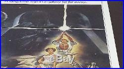Original 1977 Star Wars 3 (three) Sheet Movie Poster Free Shipping