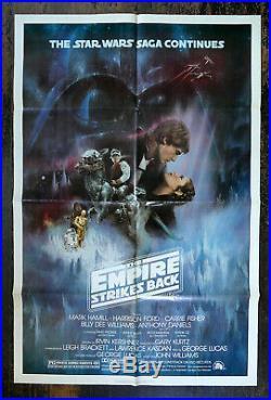 Original 1980 Star Wars Empire Strikes Back 1 Sheet Poster Style A EX Free Ship
