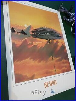 Original 1986 Star Tours Promo Poster Set 8 Complete Star Wars RARE Disney Prop