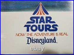Original 1987 Disneyland Star Tours 20 X 30 Souvenir Attraction Poster