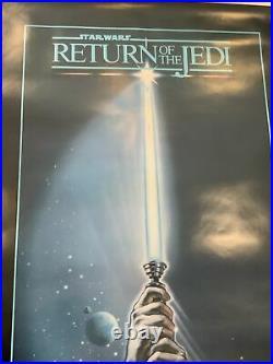 Original Large 40x60 1983 Star Wars Episode VI Return Of The Jedi Movie Poster