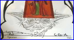 Original Mark Arminski Artwork of Star Wars Yoda & Rolling Stones Poster Artist