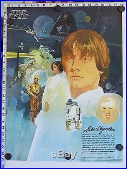 Original STAR WARS BURGER KING COCA-COLA Posters (1977) SET OF 4 NM! LAST ONES