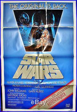 Original STAR WARS MOVIE POSTER R820106 & REVENGE OF THE JEDI Trailer 27x41 1982