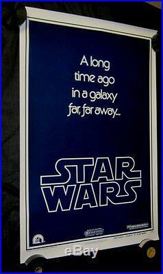 Original STAR WARS Style B Advance 1 sheet 27 X 41 Union Strike Version
