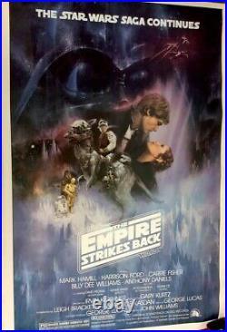 Original Star Wars EMPIRE STRIKES BACK Theater Poster, 1980, 27x41 RARE