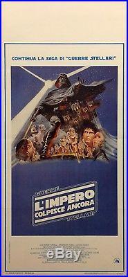 Original Star Wars, Empire Strikes Back, 27 1/2 X 13 Italian Movie Poster 1980