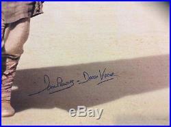 Original Star Wars Episode 1 Phantom Menace Vinyl Banner Signed Certificate