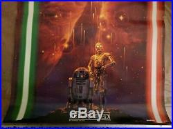 Original Star Wars Return of the Jedi Japanese Starfall Poster Noriyoshi Ohrai