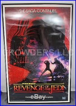 Original Star Wars Revenge of the JEDI 1982 Single Sheet Teaser Poster 27x41