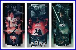 Original Star Wars Saga Triptych Foil Edition by John Guydo Print Poster Presale