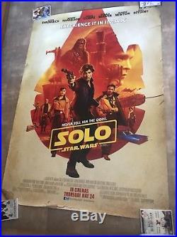Original Star Wars Solo Imax Poster