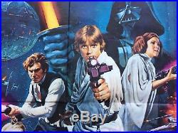 Original Star Wars, UK Quad, Film/Movie Poster 1977, Chantrell, Pre Oscar