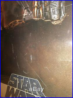 Original Vintage Star Wars 1977 Movie Poster One Sheet Style A 3rd Printing