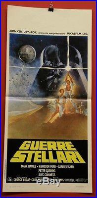 Original antique movie poster star wars Guerre Stellari 1977 (Italian) Rare