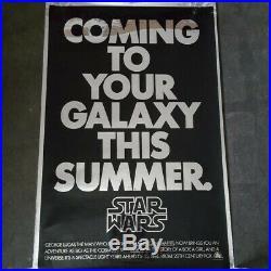 Original star wars mylar movie poster