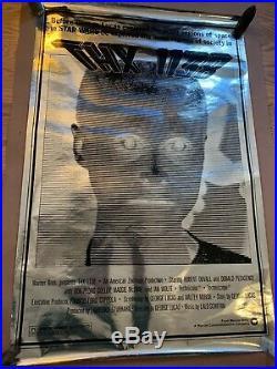 RARE Thx-1138 Foil 1978RR. Original Movie Poster Mylar Star Wars George Lucas