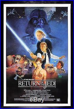 RETURN OF THE JEDI CineMasterpieces 1SH B ORIGINAL STAR WARS MOVIE POSTER 1983