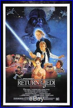 RETURN OF THE JEDI CineMasterpieces 1SH ORIGINAL STAR WARS MOVIE POSTER 1983