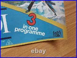 RETURN OF THE JEDI + STAR WARS Triple! Scarce UK quad posters1983 MINT unfolded