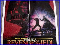 REVENGE OF THE JEDI 1983 STAR WARS Original 27 x 41 One Sheet Movie Poster