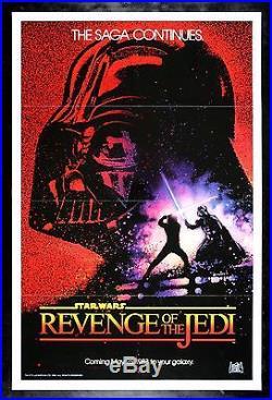 REVENGE OF THE JEDI CineMasterpieces 1983 STAR WARS ORIGINAL C9-C10 MOVIE POSTER