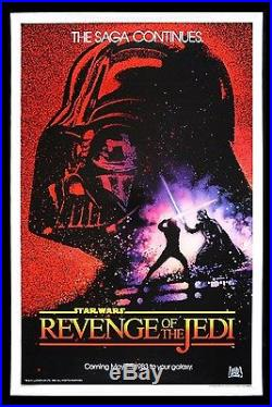 REVENGE OF THE JEDI CineMasterpieces 1983 STAR WARS ORIGINAL ROLLED MOVIE POSTER