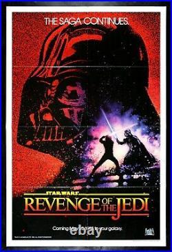 REVENGE OF THE JEDI CineMasterpieces STAR WARS VINTAGE NM-M MOVIE POSTER 1983
