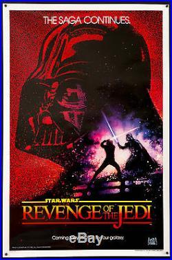 REVENGE/RETURN OF THE JEDI 1983 1sh UF NM Star Wars George Lucas Filmartgallery