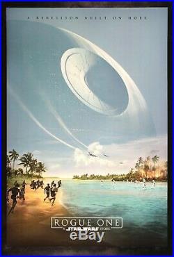 ROGUE ONE CineMasterpieces ORIGINAL DS BEACH US MOVIE POSTER STAR WARS 2016